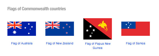 Flags of former Commonwealth countries