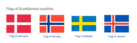 Flags of Scandinavian countries