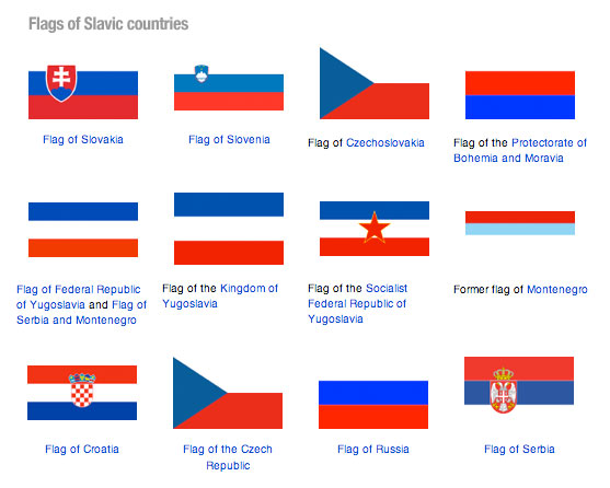 Flags of Slavic countries