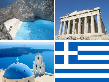 Greece nation brand colors